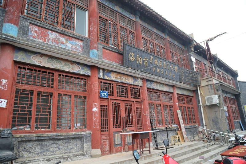 Rue antique de magasin de Luoyang photos stock