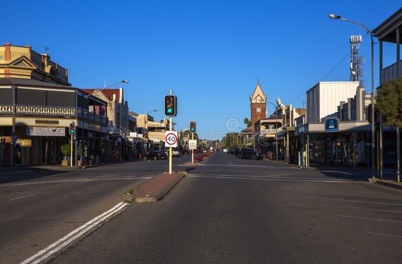 Rue argentée, colline cassée, Australie photo libre de droits