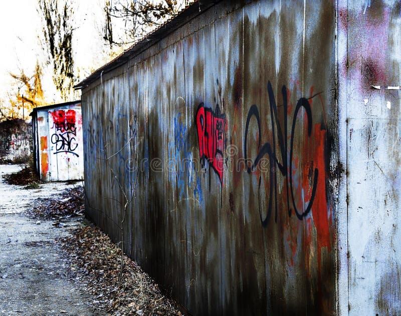 Rue Art Garage photo stock