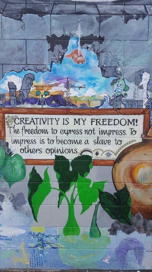 Rue Art Honolulu image libre de droits