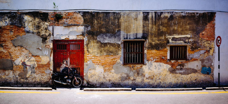 Rue Art Mural à Georgetown photo stock