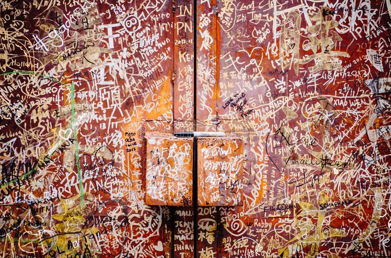 Rue Art Mural à Georgetown photos libres de droits