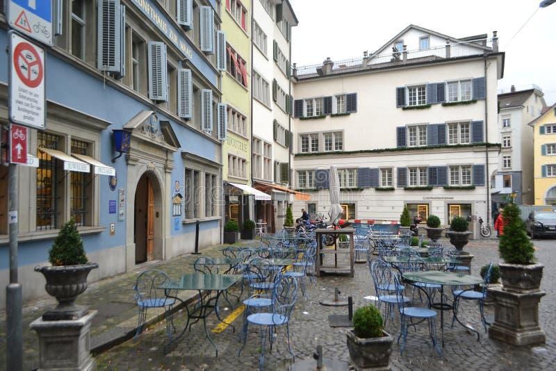 Rue au centre de Zurich photo stock