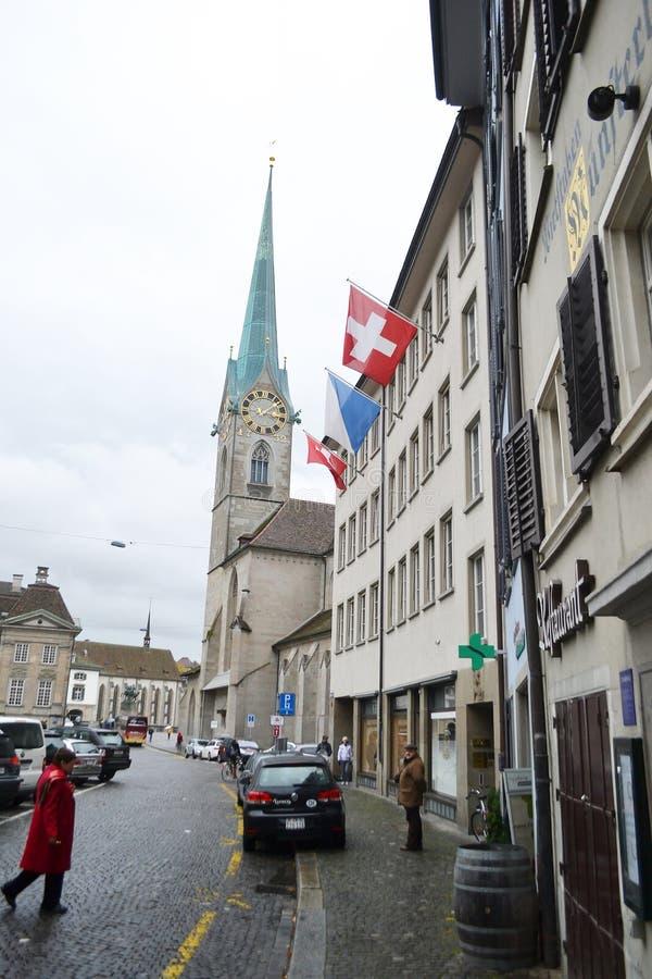 Rue au centre de Zurich photographie stock