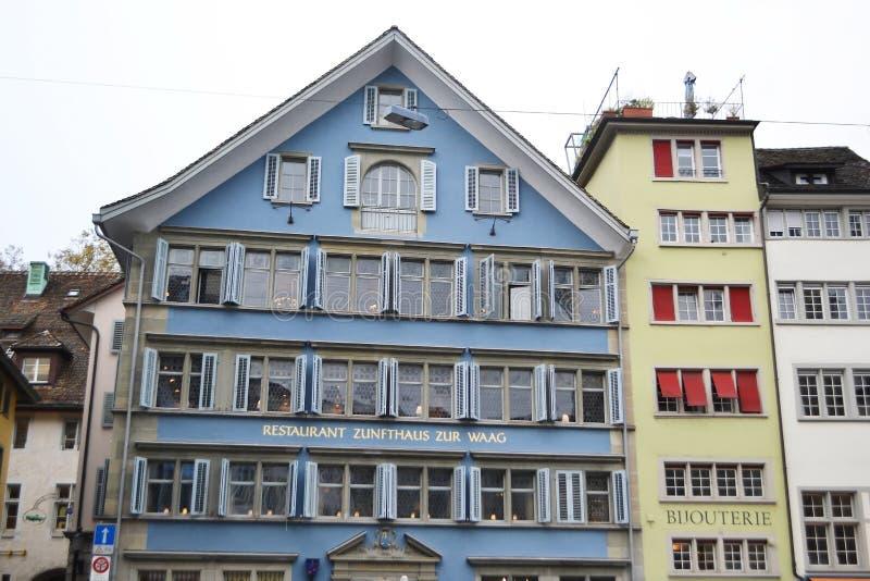 Rue au centre de Zurich photographie stock libre de droits