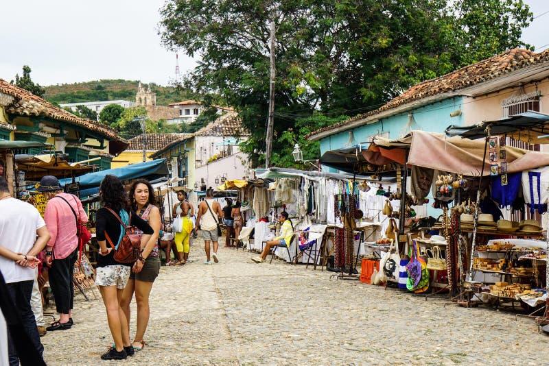 Rue au centre du Trinidad, Cuba image libre de droits