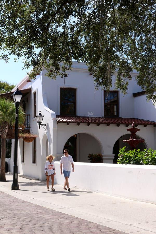 Rue Augustine, la Floride image libre de droits