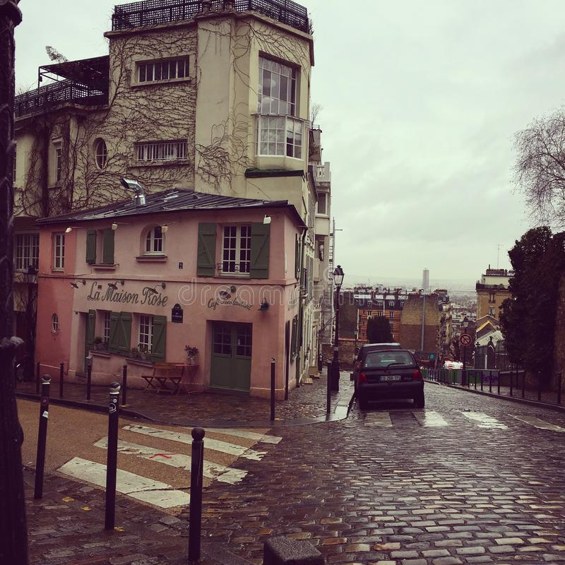 Rue Bernard Buffet royaltyfri bild