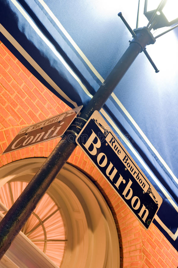 Rue Bourbon image libre de droits