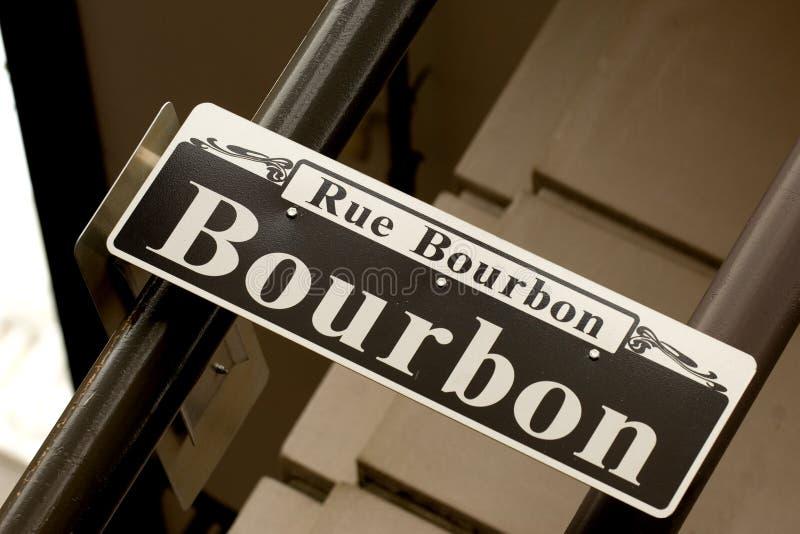 Rue Bourbon stock afbeelding