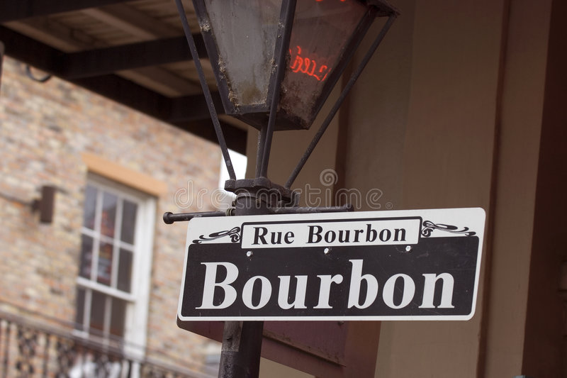 Rue Bourbon photo libre de droits