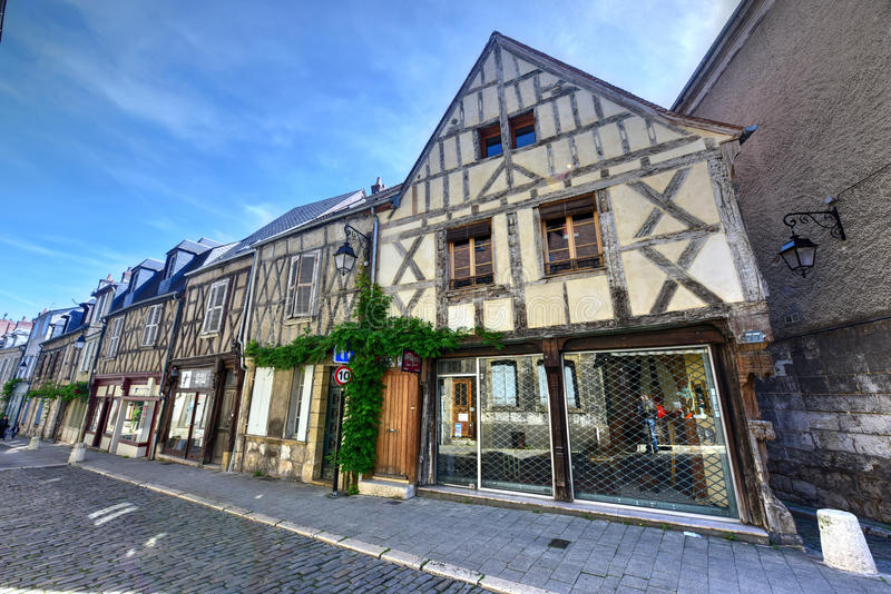 Rue Bourbonnoux - Bourges, France royalty free stock photo