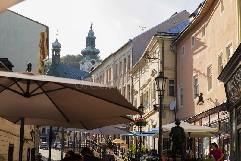 Rue c?l?bre chez Banska Stiavnica, Slovaquie photo stock