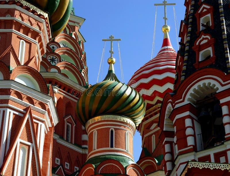 Rue Cathédrale de basilic, Moscou, Russie photos libres de droits