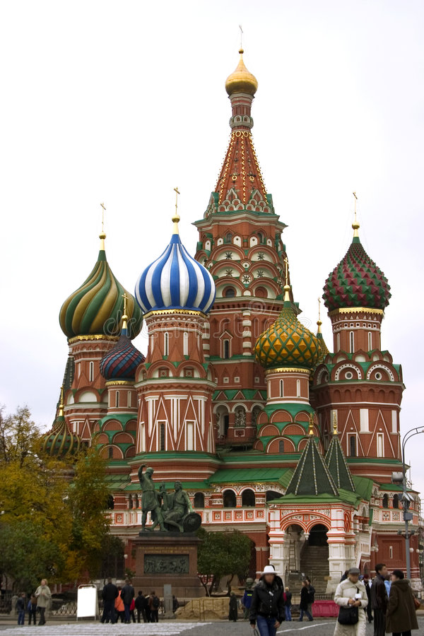 Rue Cathédrale de basilic (Moscou, Russie) photographie stock