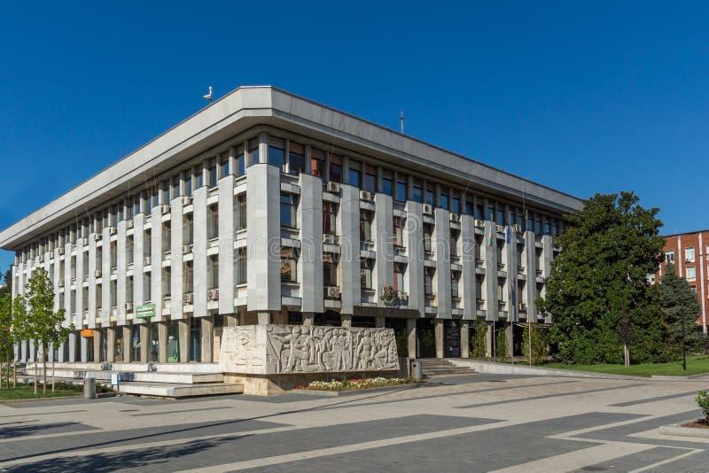 Rue centrale dans la ville de Pleven, Bulgarie images libres de droits