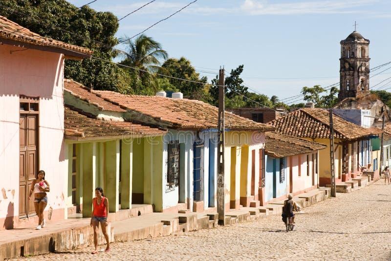 Rue coloniale, Trinidad image stock