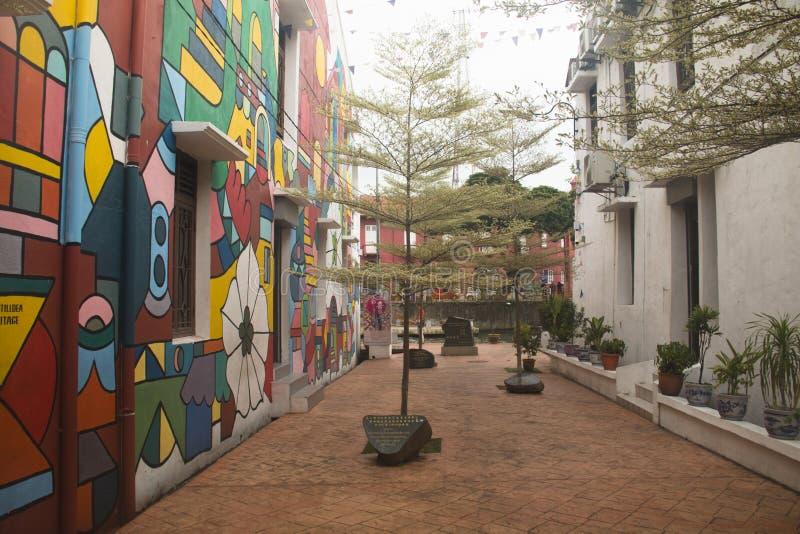 Rue colorée dans Melaka, Malaisie photo stock