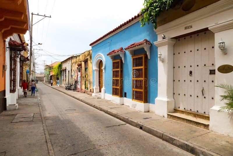 Rue colorée en Colombie image libre de droits