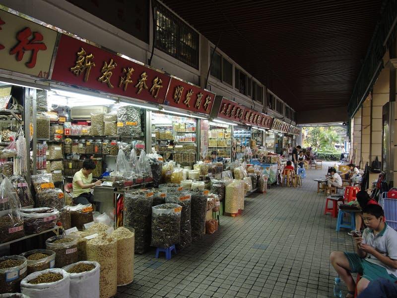 Rue commerciale de la Chine Guangzhou images stock