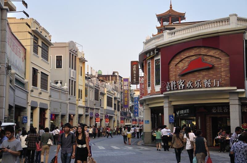 Rue commerciale de la Chine Guangzhou image libre de droits