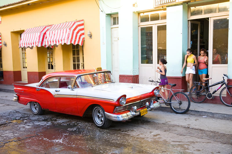 Rue cubaine, Trinidad photo stock