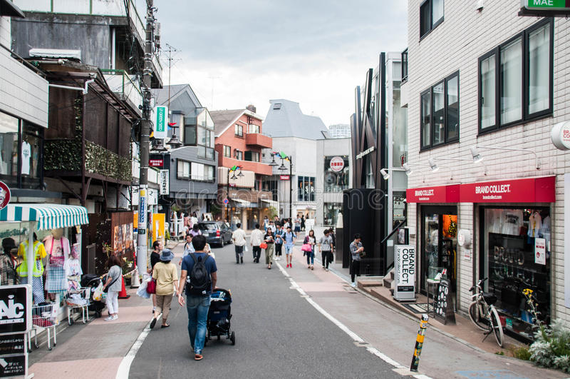 Rue d'achats de Jingu-mae images libres de droits