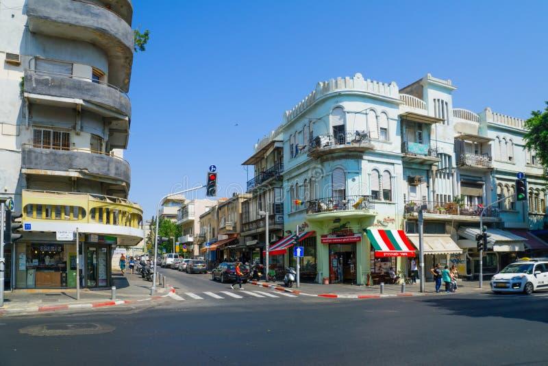 Rue d'Allenby, Tel Aviv images stock