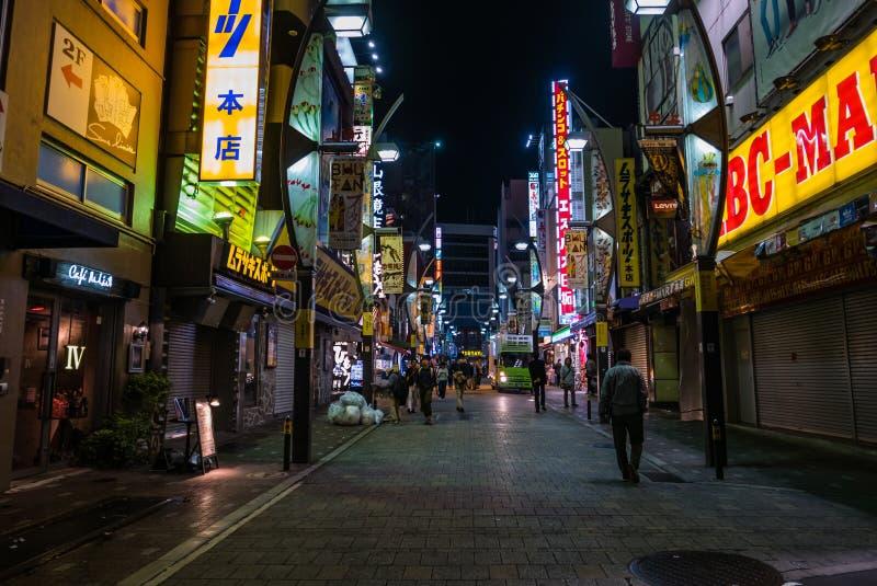 Download Rue d'Ameyoko la nuit photographie éditorial. Image du destination - 76090152