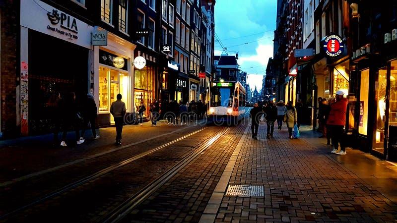 Rue d'Amsterdam image stock