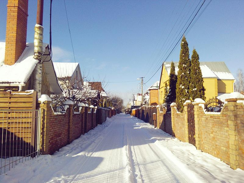 Rue d'hiver image stock