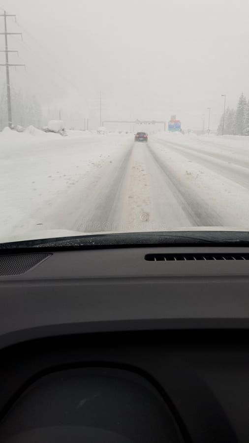 Rue d'inna de neige image stock