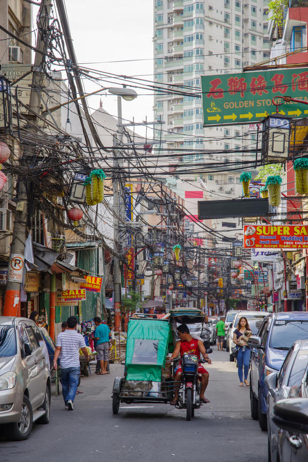 Rue d'Ongpin chez Chinatown images libres de droits