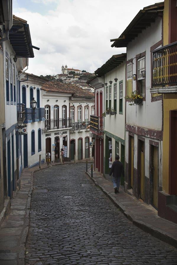 Download Rue d'Ouro Preto photo stock. Image du trésor, pierre, francisco - 742378
