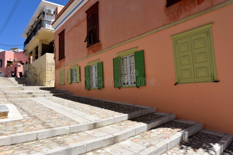 Download Rue Dans Ermoupoli Syros, Grèce Photo stock - Image du historique, flore: 77155532