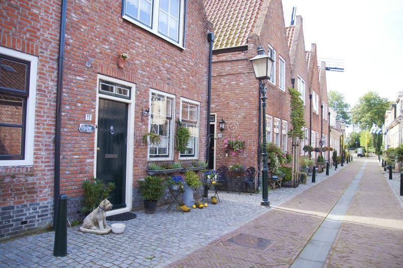 Rue dans la vieille ville aux Pays-Bas voyages en Europe photographie stock