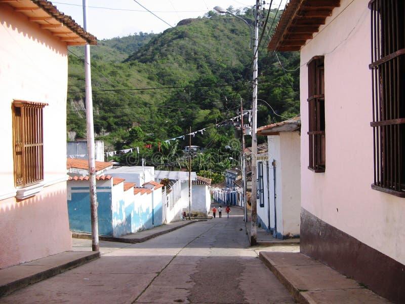 Rue dans la ville du saint Lazar, Venezuela photo libre de droits