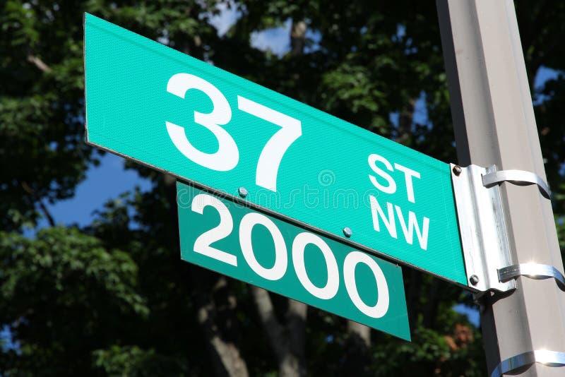 Rue dans le Washington DC photos libres de droits