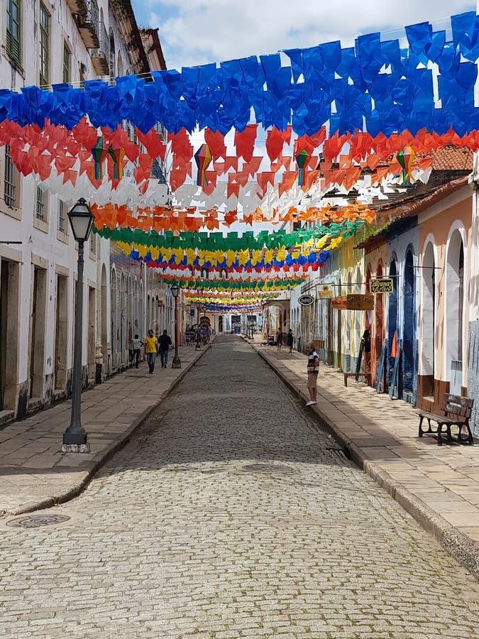 Rue dans Maranhao image libre de droits