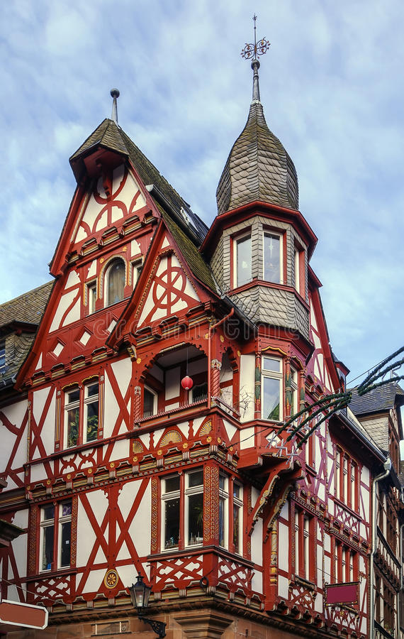 Rue dans Marbourg, Allemagne images stock