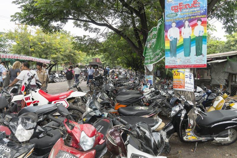 Rue dans Myanmar photographie stock libre de droits