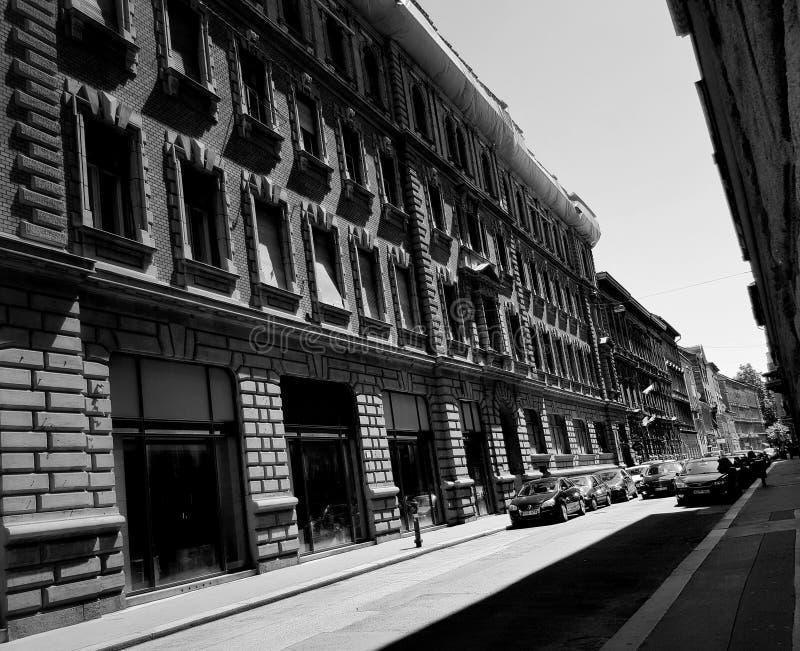 Rue dans noir et blanc image libre de droits