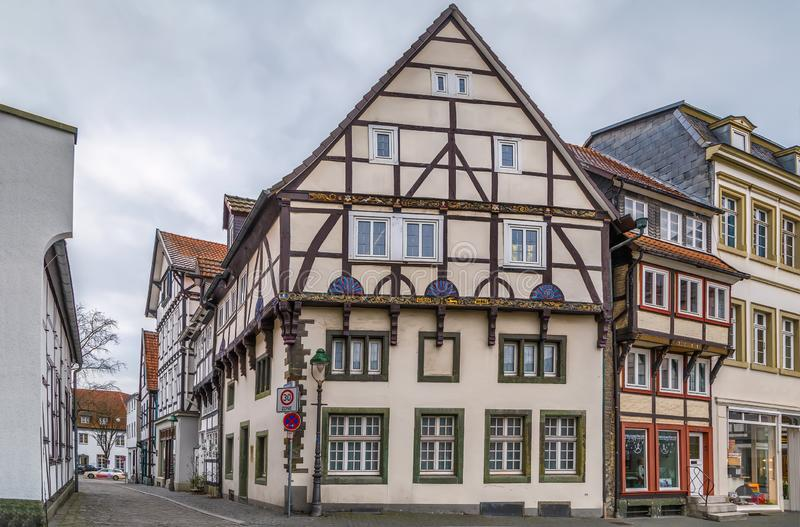 Rue dans Soest, Allemagne image libre de droits