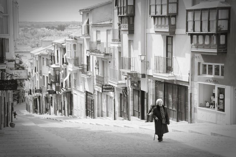 Rue de Balborraz, Zamora images stock