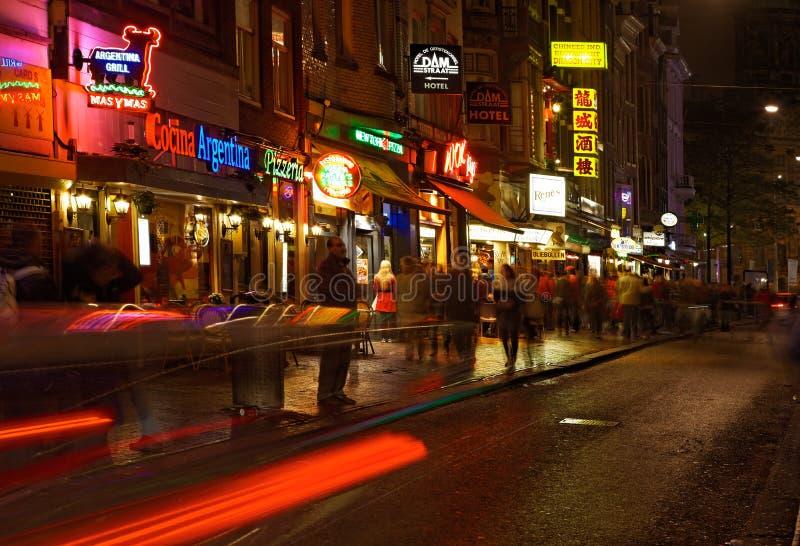 Rue de barrage la nuit photo stock