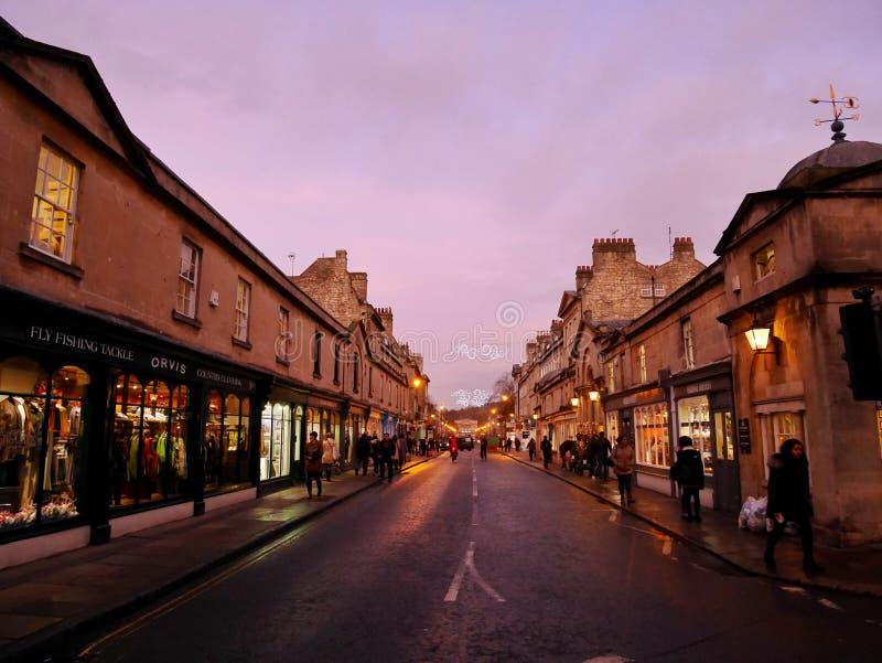 Rue de Bath, BAIN, ANGLETERRE, R-U images stock