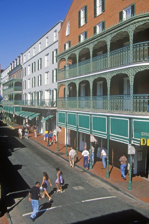 Rue de Bourbon, la Nouvelle-Orléans, Louisiane photos libres de droits