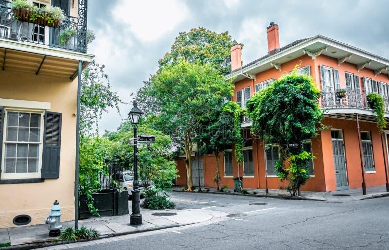 Rue de Bourbon, la Nouvelle-Orléans, Louisiane Vieux quartier français historique photos libres de droits