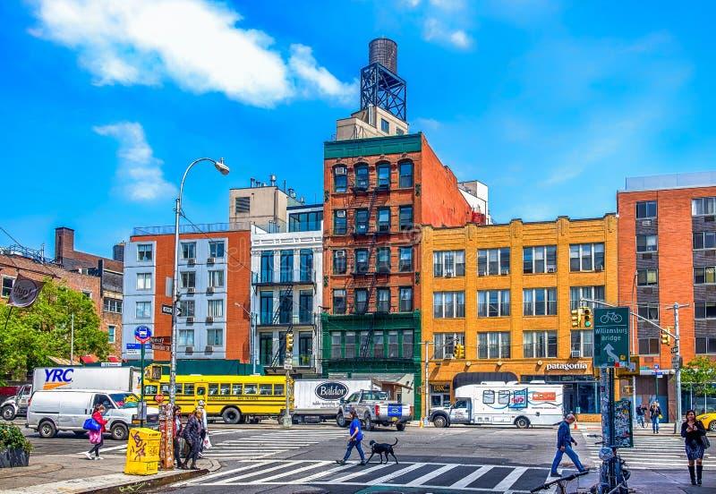 Rue de Bowery et de Bleecker photos stock