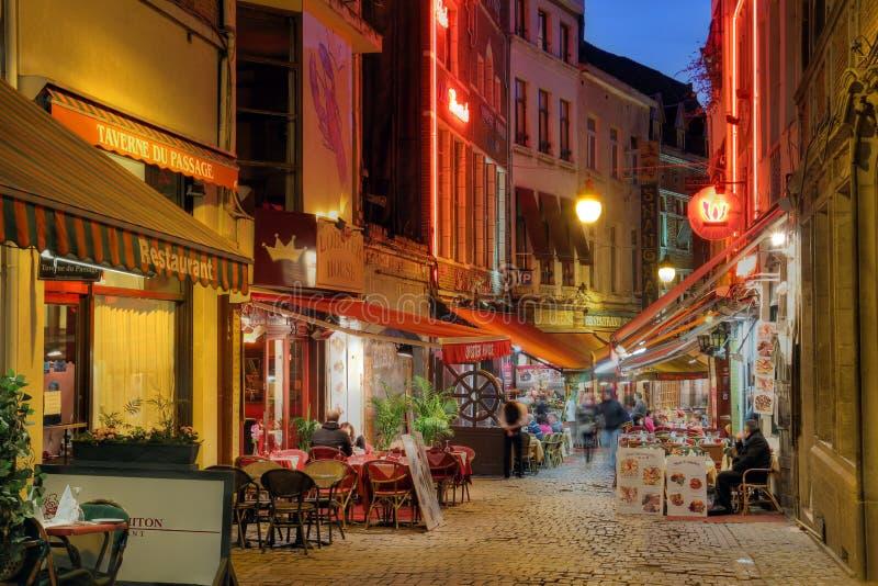 Rue de Bruxelles, Belgique photos stock